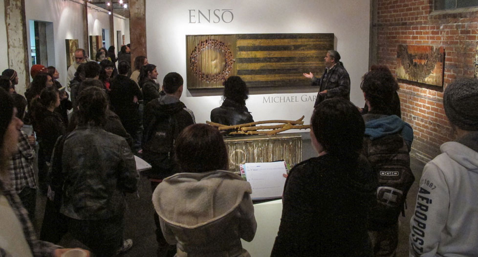 "Michael Garcia ""ENSO"" Exhibition opening, February 2013"